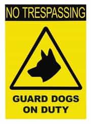 No trespassing warning