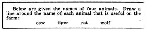 Earliest example of the multiple-choice question