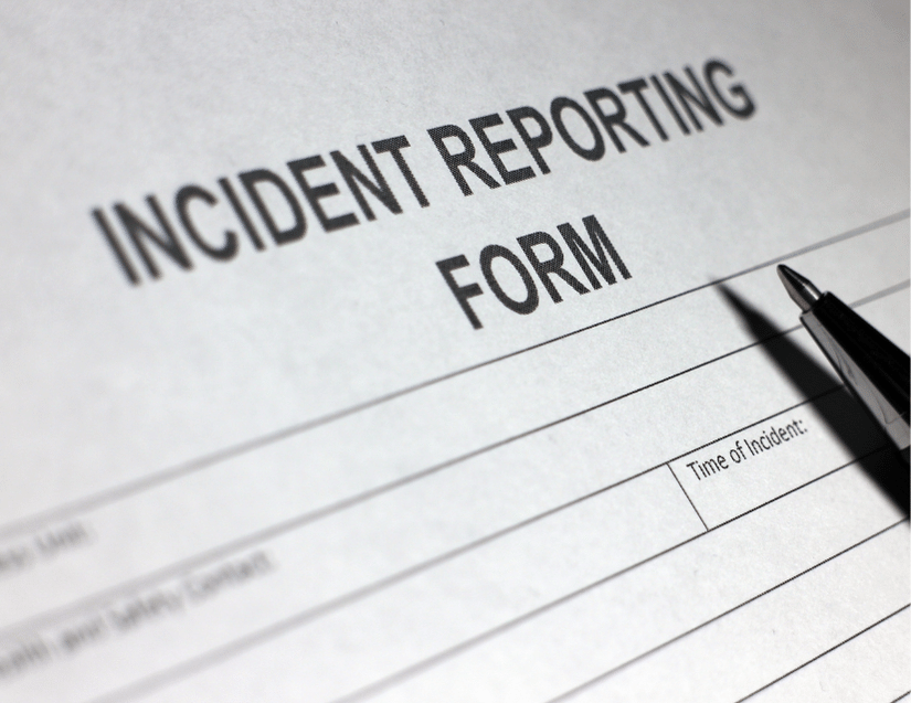Example test security incident report form